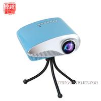 Blue Mini Led Digital Projector for Home Multimedia Cinema HD 1080P Support AV TV VGA USB HDMI SD Phone Projector,Free Shipping