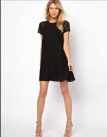 новые 2015 года женщины платья тропические плюс размер одежды случайные летом свободные сексуальные vestidos Трапеция рубашка платье