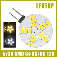 3W 4W 5W Led Lamp G4 5730 Bulb 9leds 12leds 15LED Light For Car Lamps White Warm White Crystal Chandelier 180 degree AC DC12V