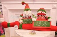 2014 new sales,Christmas decorations Christmas snowman door stoper,xmas door stoper
