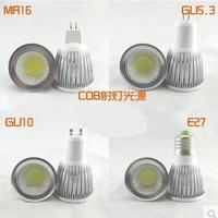 Quality Warm/Natural White Led Spot Lights COB Lamp Cup 3W5W7W12V/220V/E27GU10/5.3MR16 Lamp Bulbs Lighitng Free Shipping