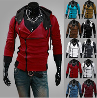 2014 Hot Casual Men's Jacket Baseball Fashion Jackets Hoodies Cardigan Coat Male Outwear Jackets Free Shipping W09 M~6XL
