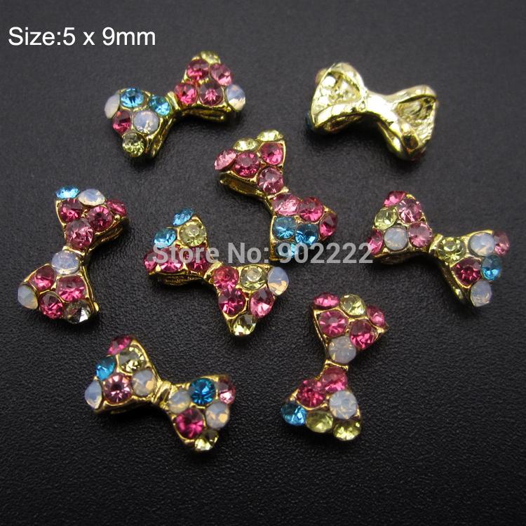 Glitter Toes Supplies 10pcs Nail Art Glitter Mix Rhinesotnes Nail Bows Diy Toe Decoration Jewelry