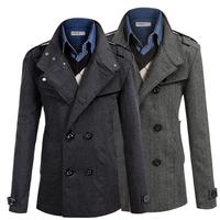 2015 New  pop  men's oblique zipper design spell color suit