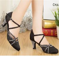 Modern Customized Heels Women's Heels Satin with Rhinestone Dance Shoes(More Colors)JYG834