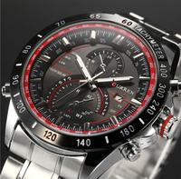 2015 Male Quartz Watch Men Watches Men Stainless Steel Wristwatches Men Luxury Brand Clock Men'S Watches Watched Relogio AE001