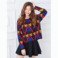 2014 loose short design plus size national trend women's sweater