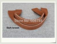 wholesale 10pcs=5Pairs leather+Canvas bag handles, leather bag accessories spare parts handle/Strap 40*3.8cm Multi colors