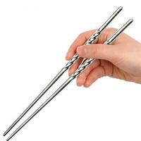 New!1 Pair Novelty Non-slip Stainless Steel Chopsticks for Home Restaurant Elegant Environmental Free shipping