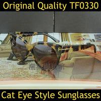 2014 Brand Designer Fashion Original Women Cat Eye Sunglasses Men Tom TF0330 Toms Glasses Sun Eye Glasses Oculos Do Sol feminino
