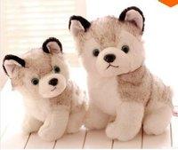 LY7634 2pcs 2014 New Cute Cartoon Husky Plush Toys Husky Puppy Toys Christmas Gift