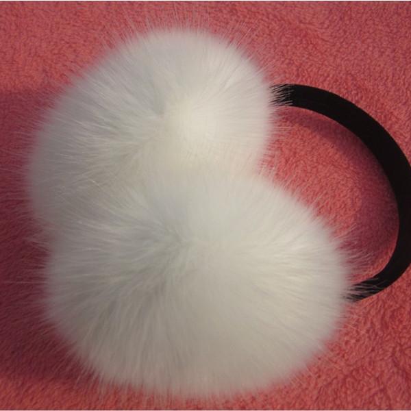 Winter & Spring & Autumn Women Warm Fur Earmuffs Girl's Earlap Ultralarge Rabbit Hair Earflap Ladie's Cute Eartab Plush Ear Muff(China (Mainland))