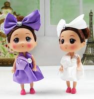 Ddung pendant doll 12pcs 12cm exquisite one flower skirt bouquet girl cloth bag key chain wedding gift children prize wholesale