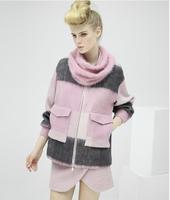 Winter new fashion short paragraph woolen coat pocket