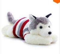 LY7620 2pcs 2014 New Cute Cartoon Sweater Husky Plush Toys Husky Puppy Toys Christmas Gift