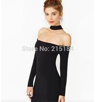 Women Short Design Dress Free shipping Crop top Long sleeve Backless Dresses