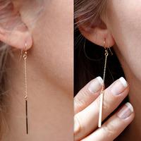 Lady Hot Fashion Glamor Punk Alloy Long Earrings Long Drop Hanging Trendy  E-161