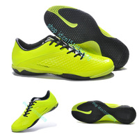 Free Shipping HyperVenom Phelon IC Indoor Soccer Shoes 2015- Green Yellow Black mens football shoes