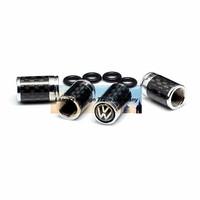 4caps/lot automobile wheel tire tyre valve cover carbon fiber caps with VW car logo badge brands