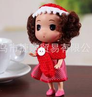 Ddung pendant doll 12pcs 12cm exquisite Christmas sweet dress girl cloth bag key chain wedding gift children prize wholesale