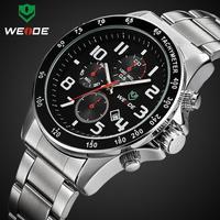 New arrival WEIDE brand quartz watches men military watches 3ATM calendar date men's wristwatch sport dive clock Hot sales