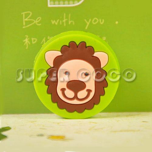 Round Lion Children Kid's Room Furniture Cartoon Handle Cupboard Cabinet Drawer Wardrobe Door Rubber Pull Knob(China (Mainland))