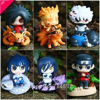 6pcs/set Naruto action figure Uzumaki Madara Sasuke Kakashi Orochimaru Hashirama toys High quality PVC dolls free shipping