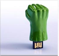Free shipping Avengers Hulk hands usb flash drive 4GB 8GB 16GB 32GB /American shield / Hulk hand / hammer Pen Drive