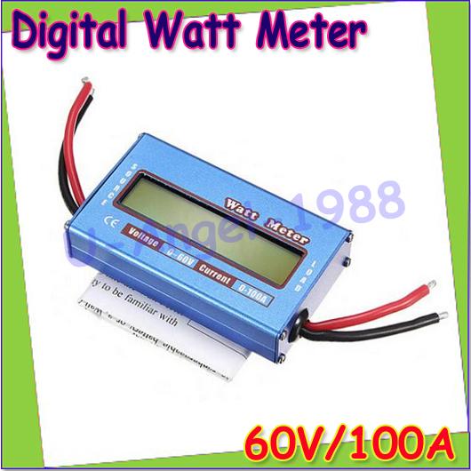 1pcs RC Wattmeter Watt Meter Digital LCD 60V/100A DC Voltage Current Power Balancer Battery Analyze Checker Monitor wholesale(China (Mainland))