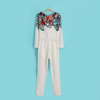 2015 New arrivals Women's Chiffon Print  Jumpsuits Printing Siamese trousers free shipping Good quality Fashion Show
