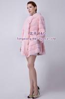 BG80197  2014 Fashionable  Genuine Full Pelt Mink Fur of Women's Coat Winter Full Sleeve Outwear