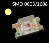 2700-3000K Warm White 1608 chip led 400-600MCD SMD 0603 light emitting diode 3.0-3.5V