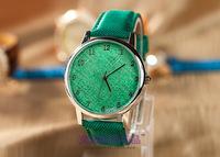 Fashion Cowboy PU Women's Watches European Pop Multicolor Casual Quality Watch Lady's Bracelet Quartz Wristwatch