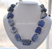 20inch 15mmx36mm blue original massive lapis lazuli bead necklace