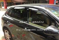 Window Visor Vent Shade Rain/Sun/Wind Guard Deflectors  4PCS   for Porsche Cayenne 2011 2012  2013