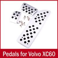Car AT interior decorative aluminum pedals pedal for Volvo XC60 2009-2014 Automatic Transmission