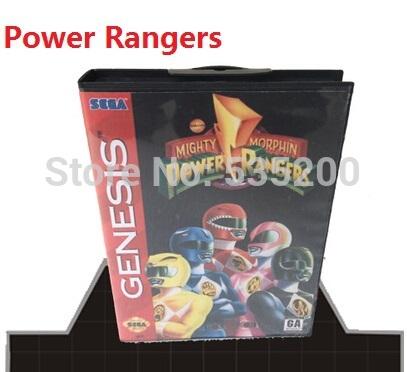 wholesale Sega games card - Power Rangers with Box and Manual for Sega Mega Drive megadrive Video Game Console 16 bit MD card(China (Mainland))