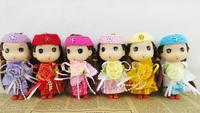 Ddung pendant doll 12pcs 12cm exquisite pretty flower bouquet girl bag key chain wedding candies gift children prize wholesale