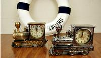 Archaize locomotive alarm clock Creative high-grade plastic British classic vintage locomotives gift bell shape