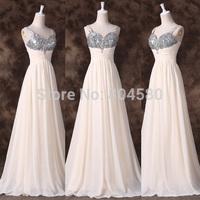 2015 New!Free Shipping Grace Karin Spaghetti Strap Chiffon Celebrity Dress Floor-Length Long Evening Prom Dresses Formal  CL6263