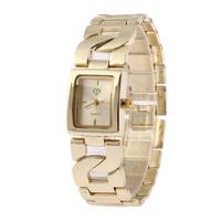 Free Shipping Fashionable Woman Luxury Golden Watch Stainless Steel Women's Leisure Watch Quartz  Bracelets Watch
