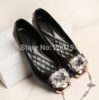 Rainestone 2014 Winter Plush Flats & 2015 Spring Single Flats for Women Fashion Boat Shoes Women Plus Size 42 EURO Free Shipping