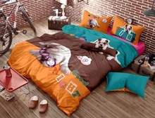 Cotton bedding set king full queen twin size kids animal bedding dog comforter cover sets quilt cover sets bed cover king size(China (Mainland))