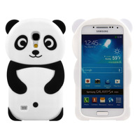 3D Panda silicon cell phone defender cover For Samsung Galaxy S4 mini i9190 case