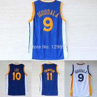 Golden State Andre Iguodala 9 Jersey, David Lee 10 Jersey, Klay Thompson 11 Jersey, Cheap Basketball Jerseys S-2XL Free Shipping