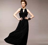 Women's one piece dress fashion high quality exquisite beading V-neck slim A11803