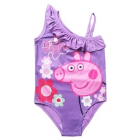 Hot Sell New Arrival Fashion Girls Swim Wear Peppa Pig Printed Children Bathing Clothes For Girls Casual Kids Clothes Wholesale