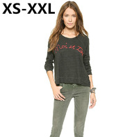 XS-XXL Spring And Summer New Fashion Sweatshirts Of Women Do The Old Patchwork Moi Et Toi Embroidery Sports Sweatshirts