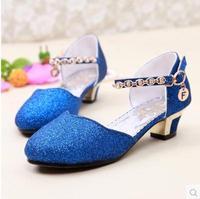 2014 summer children big girl princess dance shoes closed toes sandals female high-heeled sandals for kids girls size 26-37