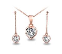Heart shape Jewelry sets, AAA Zircon, Fashion Rromantic Wedding Jewelry Earrings+Necklace, free shipping